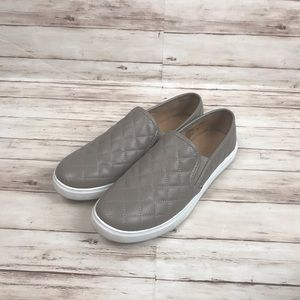 Brash Crave Slip On Quilted Tan Taupe Casual